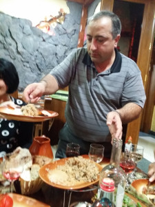 Armenia Artek serving rice