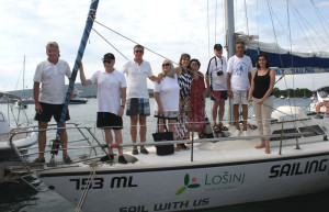 Losinj 1700 our crew of Jadranka off Ilovik