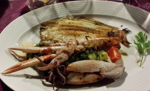 Losinj 214336 prawn, flounder, squid, octopus entre at Lanterna