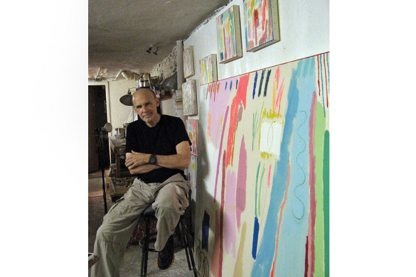 Mitch Lewis in his studio