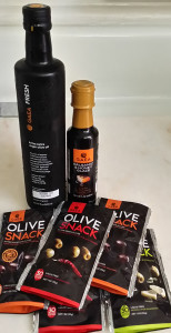 Olives etc -SFFS 171501 Gaea olive oil, balsamic vinegar, olives